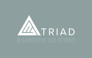 Triad white logo